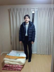 仮設住宅宿泊(写真:石川昭政党青年局次長・衆議院議員)