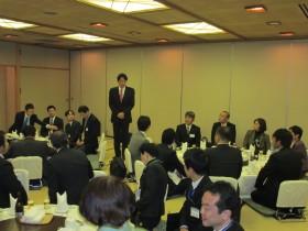 懇親会での小野寺五典防衛大臣挨拶