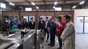 石巻魚市場、放射能検査の状況視察