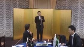 懇親会で挨拶をする熊谷大青年局長代理・参議院議員(宮城選挙区)