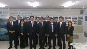 須田善明女川町長と熊本県連青年局、宮城県連青年部メンバー