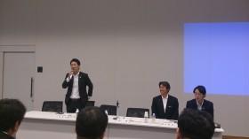 研修会:研修部長中泉松司参議員議員あいさつ