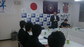 学生部設立準備委員会 佐々木幸士青年部長のあいさつ