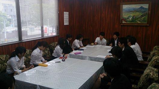 学生部会議の様子