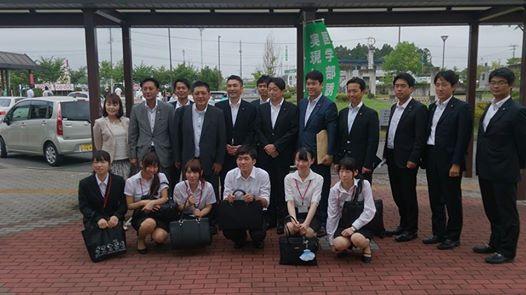 小野寺五典防衛大臣とTEAM-11参加メンバー