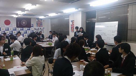 会場の様子(43名の学生のみなさんにお集まりいただきました!)