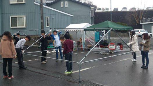 テント設営・準備お手伝い(1)