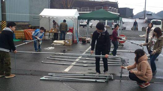 テント設営・準備お手伝い(2)
