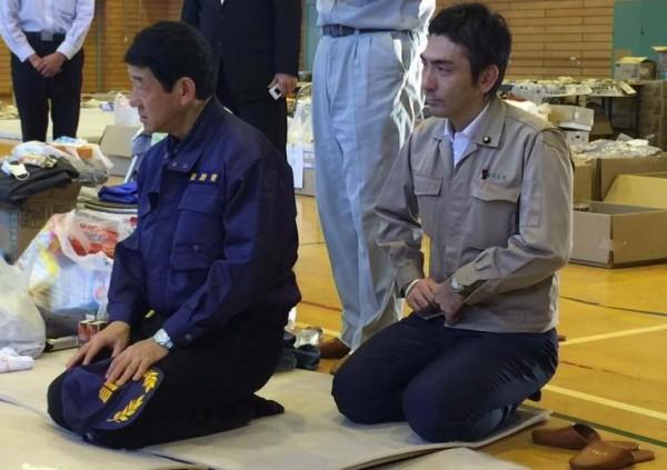古川第5小学校避難所訪問