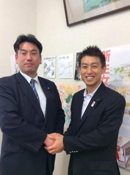 溝口議長と須田女川町長