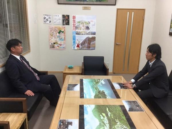 長屋副議長と須田女川町長意見交換