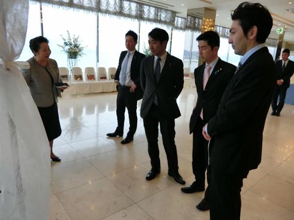 ホテル観洋さんにて震災当時の状況について説明