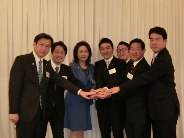 熊谷、高階氏と国会議員団