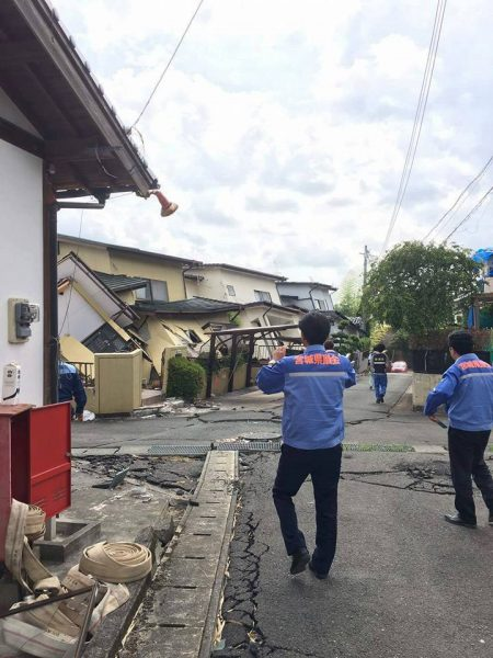 熊本県内被災地視察