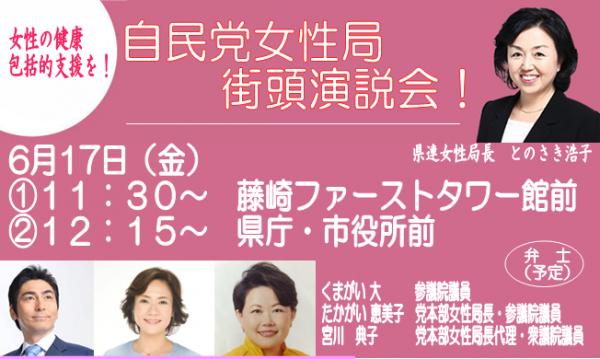 県連女性局街頭演説会